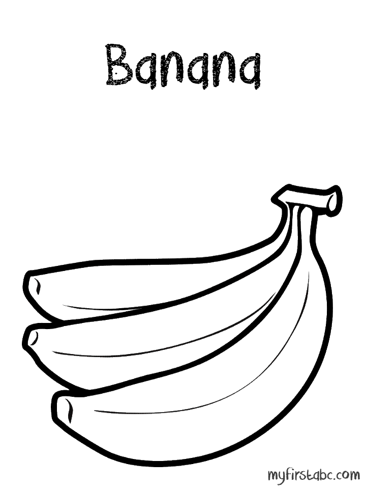 718x958 Banana Coloring Page My First Abc Coloring Pages Of Bananas