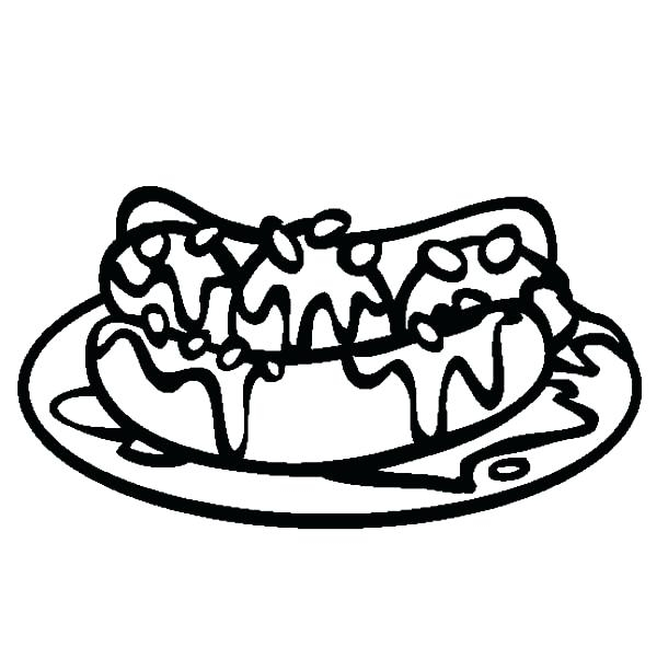 600x612 Banana Split Coloring Page Coloring Pages For Girls