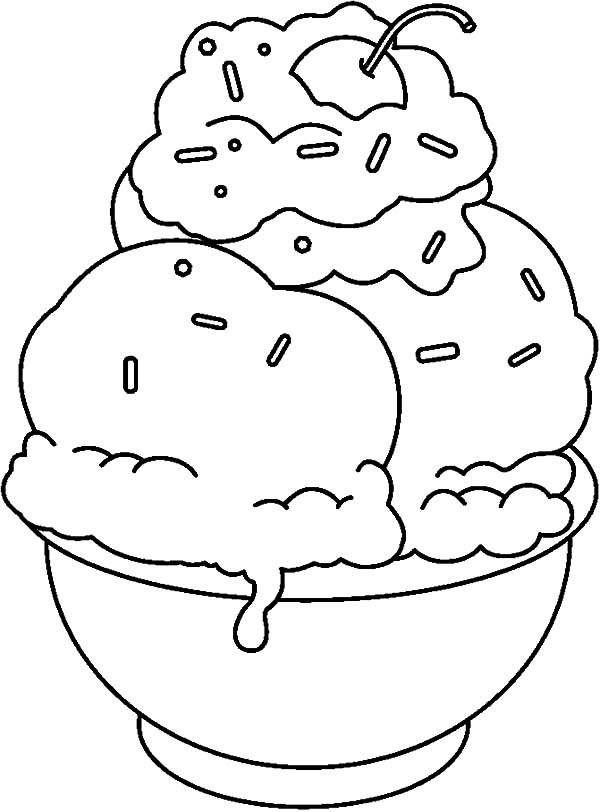 600x812 Do It Yourself Banana Split Coloring Pages Best Place To Color