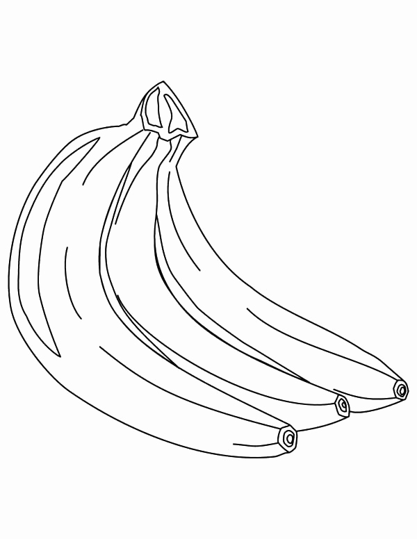 600x776 Banana Tree Coloring Page Pictures Banana Coloring Pages