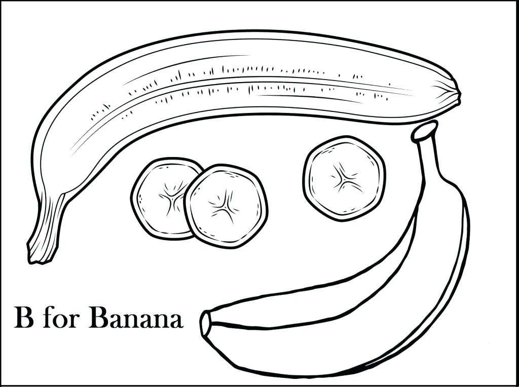 1024x764 Banana Coloring Page Banana Coloring Pages Monkey Got A Banana