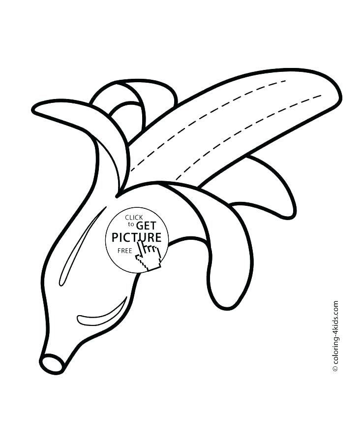 736x857 Banana Coloring Pages