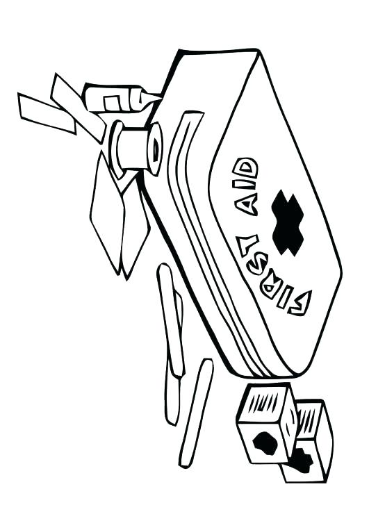 531x750 First Aid Coloring Pages Yvonnetangme First Aid Coloring Pages