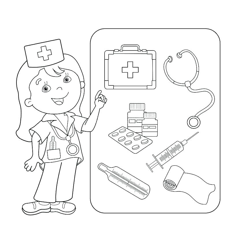 800x800 Medical Coloring Pages Medical Coloring Pages First Aid Coloring