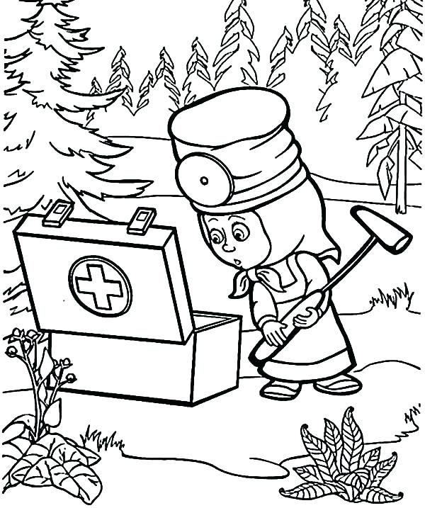 600x717 Medical First Aid Package Coloring Page Band Aid Coloring Page Pop