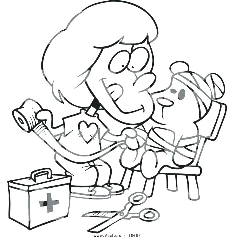 770x785 Band Aid Coloring Page First Aid Coloring Es Coloring E First Aid