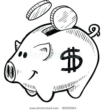 450x470 Dollar Sign Coloring Page Piggy Bank Coloring Page Inspirational