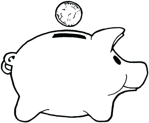 480x397 Coloring Page Of A Pig Piggy Bank Coloring Page Piggy Bank