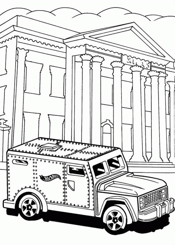 600x840 Hot Wheels Steel Car For Bank Coloring Page