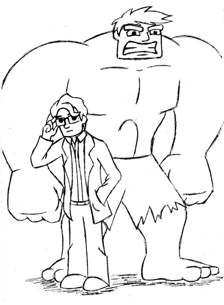 766x1042 Bruce Banner Incredible Hulk Coloring Pages