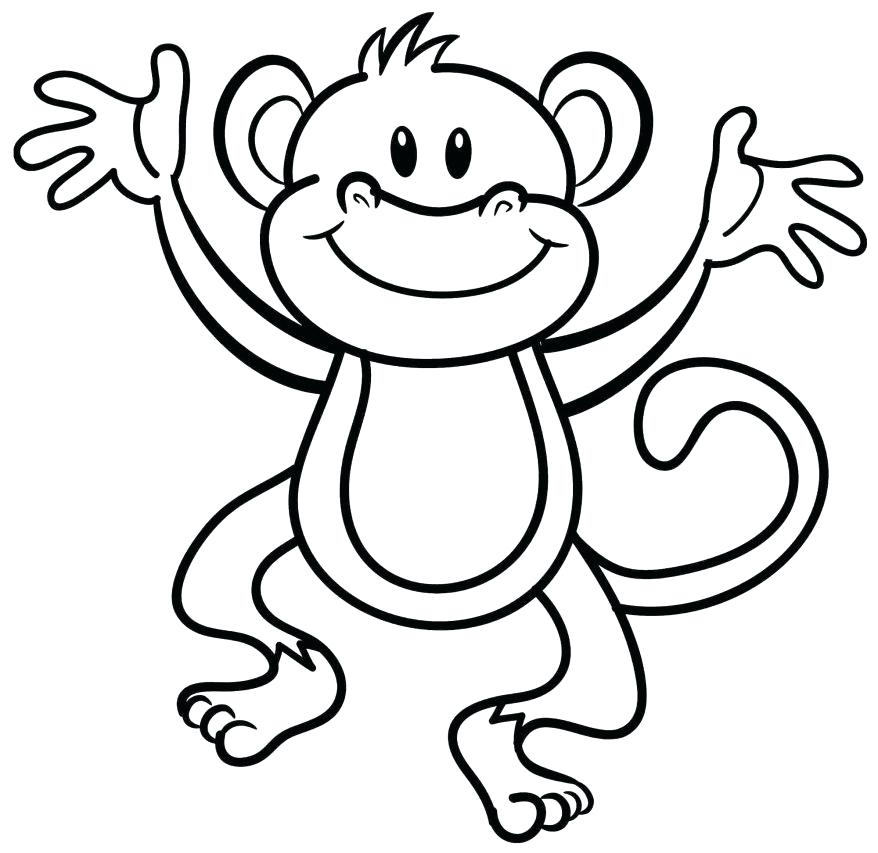 878x853 Curious George Coloring Pages Printable More Images Of Monkey
