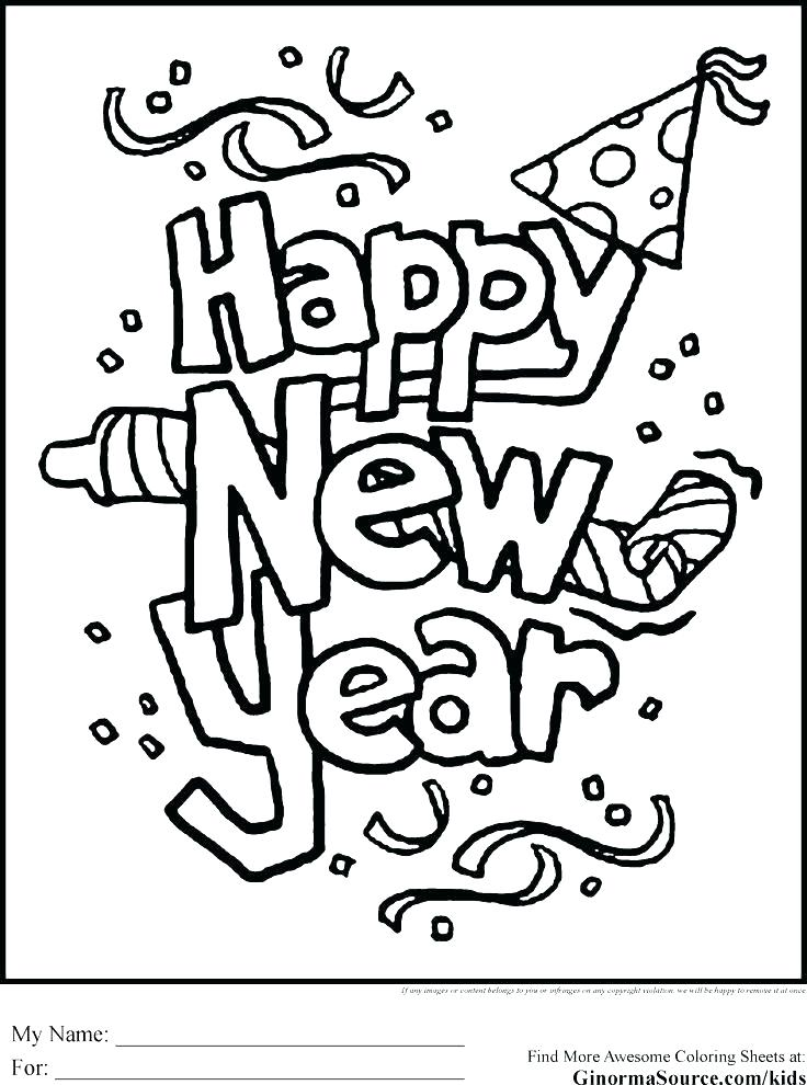 736x990 New Years Printable Coloring Pages Free Printable New Years