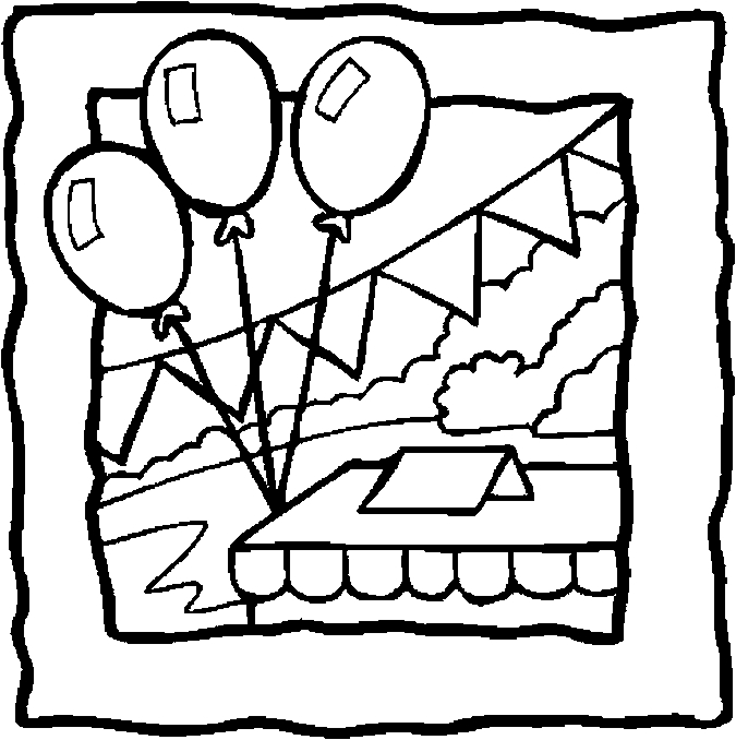 675x678 Balloons Banner Coloring Page