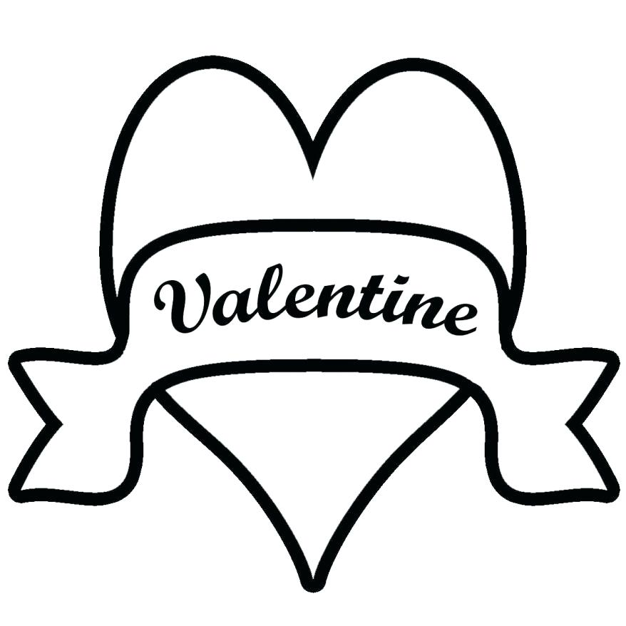 878x878 Banner Coloring Pages Coloring Page Valentine Banner Color This