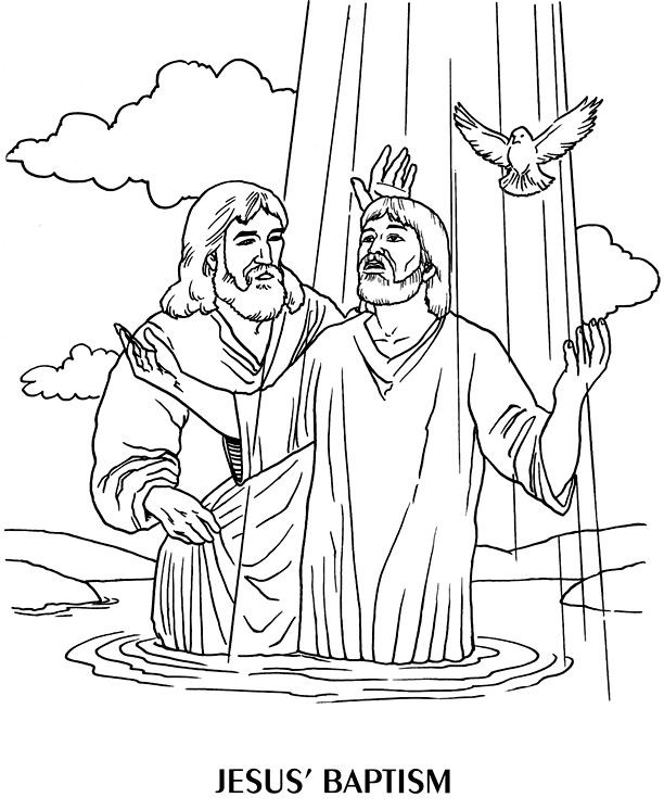 The best free Baptized coloring page images. Download from ...