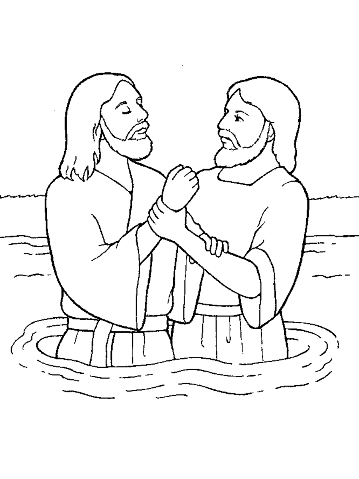 Baptism Coloring Pages Printables At Getdrawings Free Download
