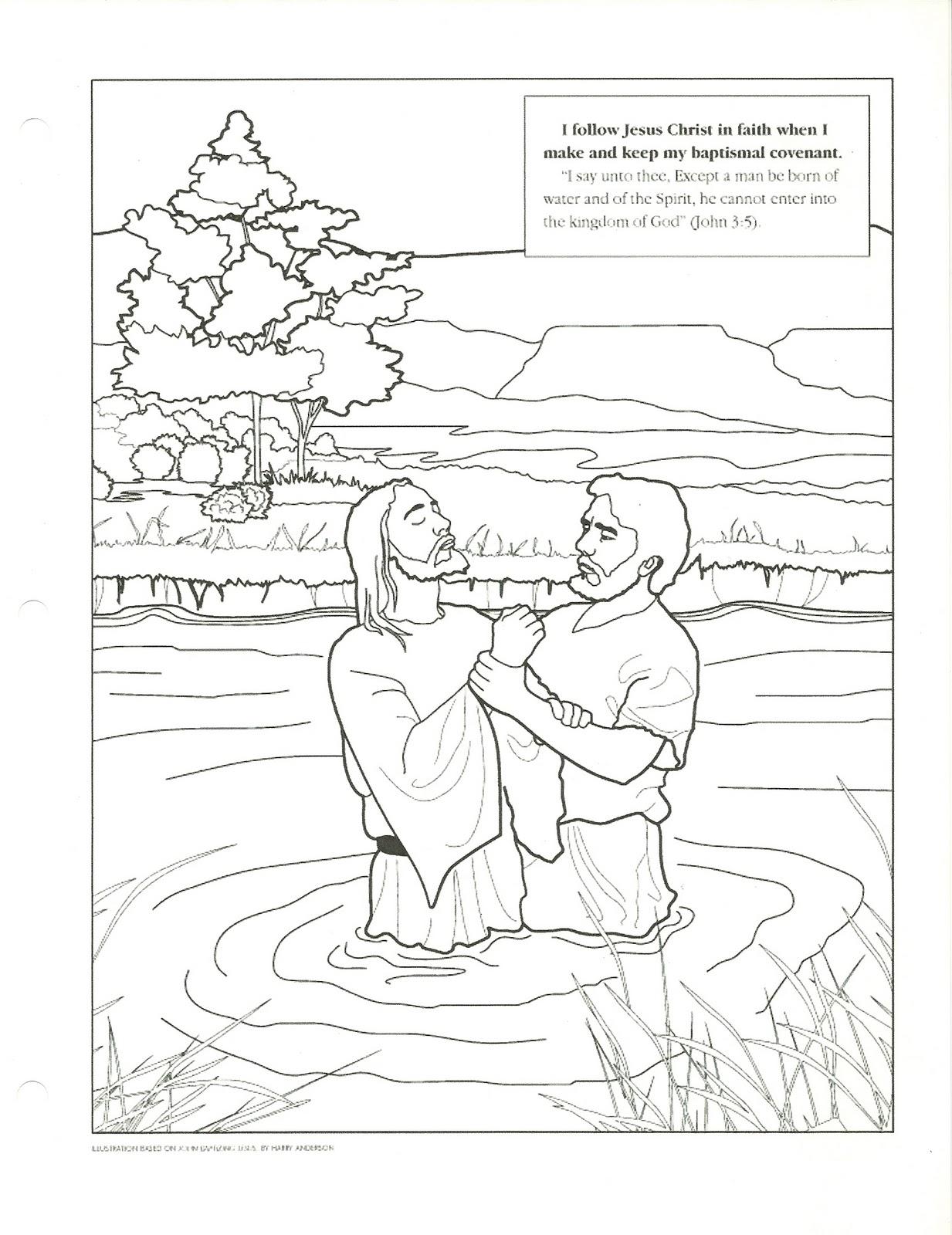1233x1600 John The Baptist Baptism Jesus Coloring Page Lds Christ Pages