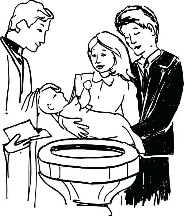 600x706 Baptism Coloring Pages Catholic Vanda