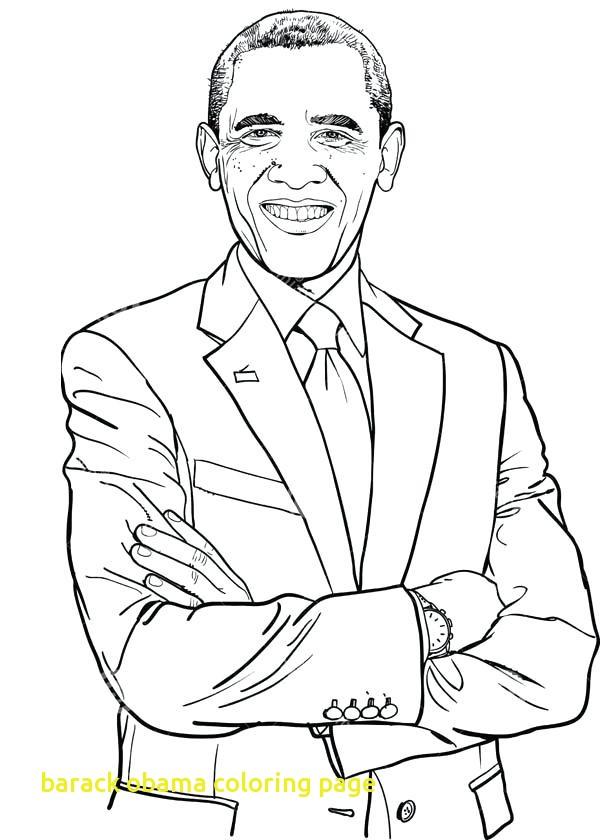 600x840 Barack Obama Coloring Page With Free Printable Barack Obama