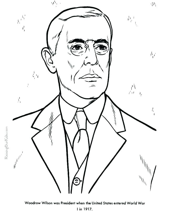 670x820 President Obama Coloring Page