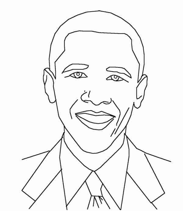 600x691 Barack Obama Coloring Page Olegratiy