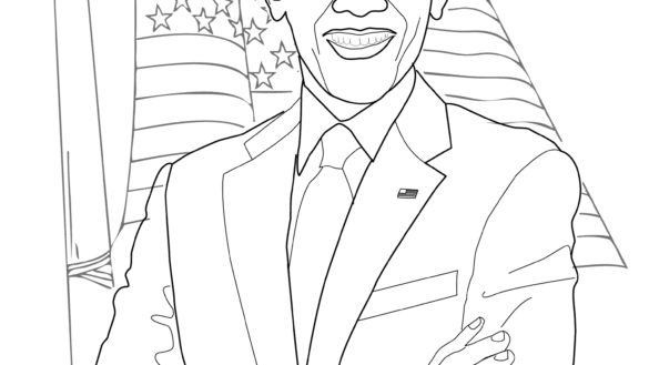 585x329 Barack Obama Coloring Page With Barack Obama Coloring Page