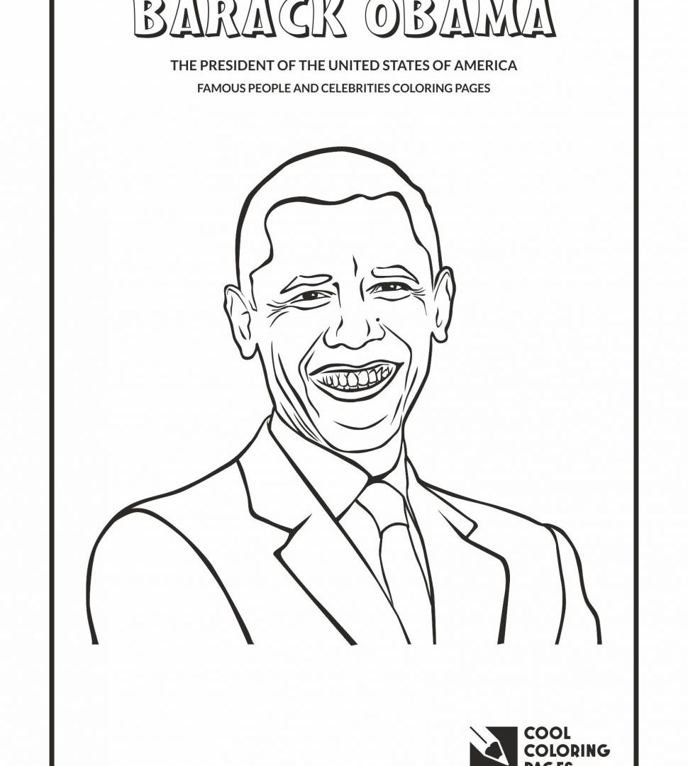 Barack Obama Coloring Pages Printable