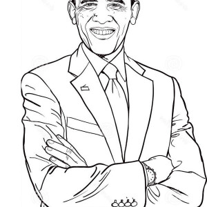 300x300 Barack Obama Printable Coloring Pages Color Bros