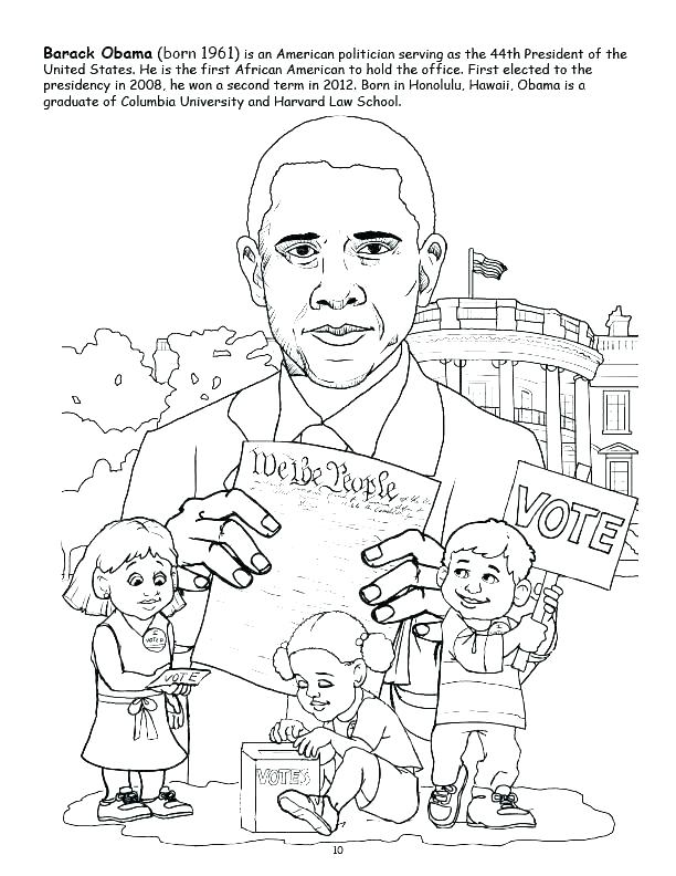 612x792 Obama Coloring Page Coloring Pages Black History Month Coloring