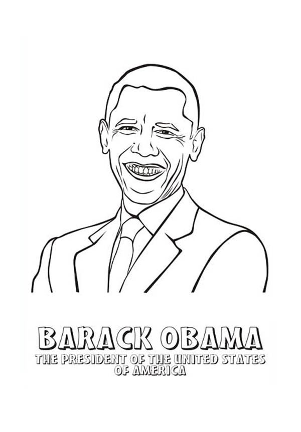 600x862 Barack Obama Coloring Page