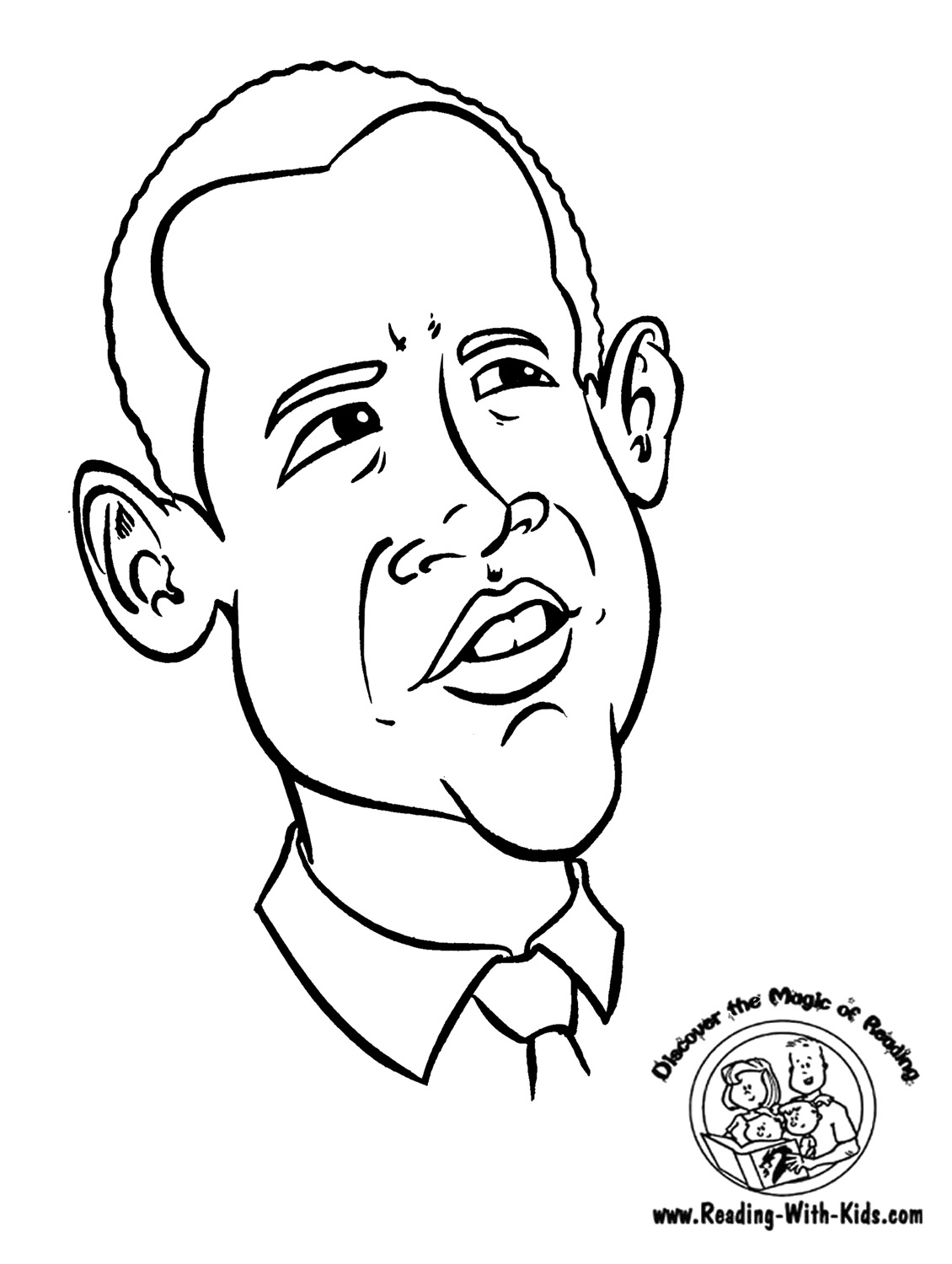 1130x1500 Smiling Obama Barack Coloring Page For Sheets
