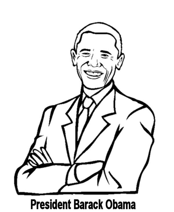 600x734 Surprising Barack Obama Coloring Pages For Kids Printable