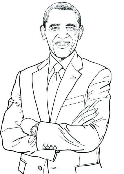 428x600 Barack Obama Coloring Page Coloring Pages Awesome Coloring Pages