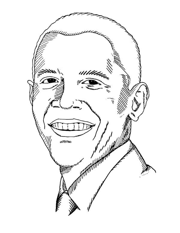 600x776 Barack Obama Coloring Pages