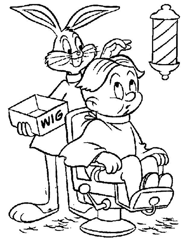 Barber Coloring Pages
