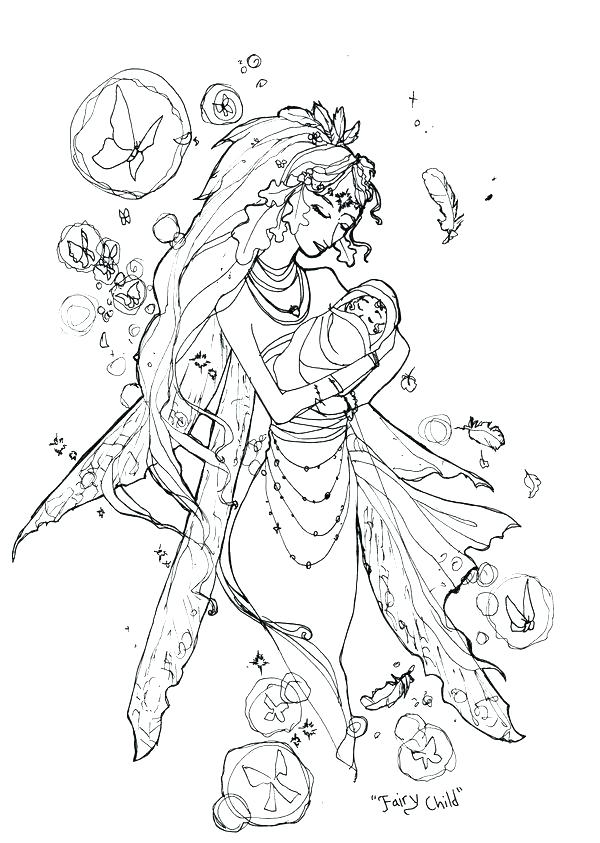 600x843 Fairy Coloring Pages Fairy Coloring Pages For Adults Free Fairy