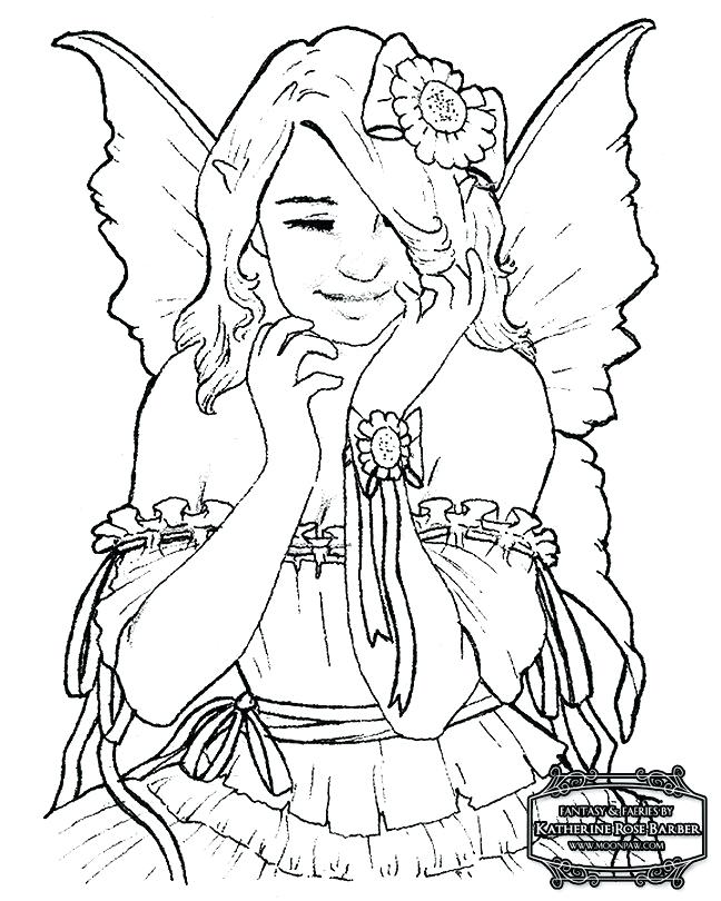 648x810 Free Coloring Pages Fairies Enchanted Designs Fairy Mermaid Blog