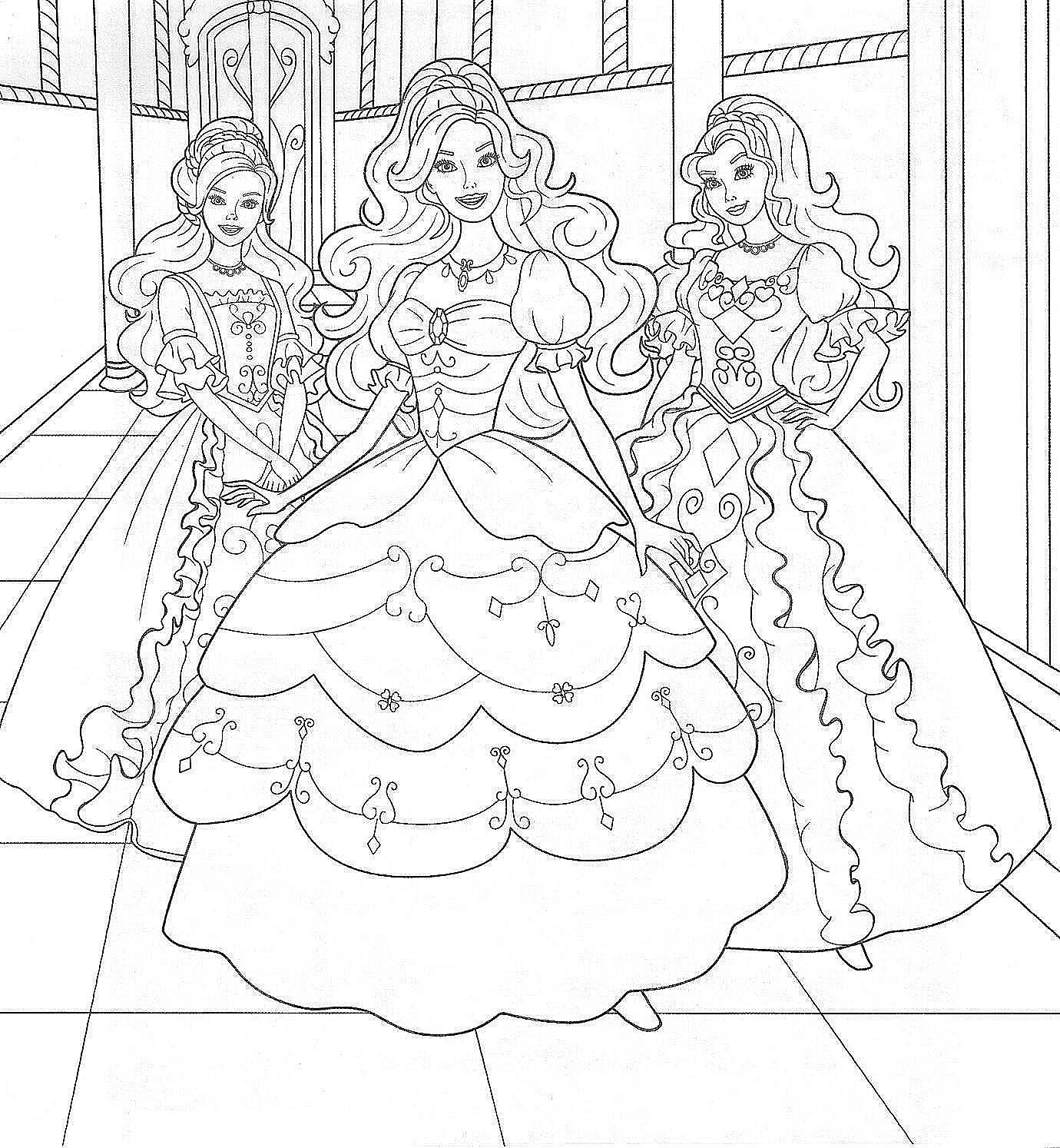 1380x1494 coloring pages of barbie princess elegant two friends coloring