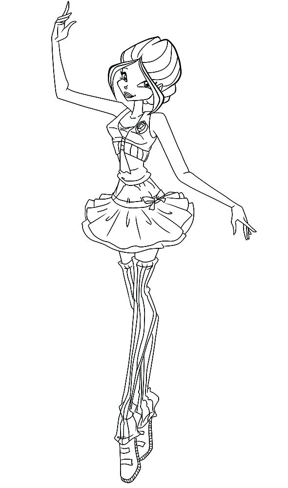 590x1000 Barbie Ballerina Colouring Pages To Print Coloring