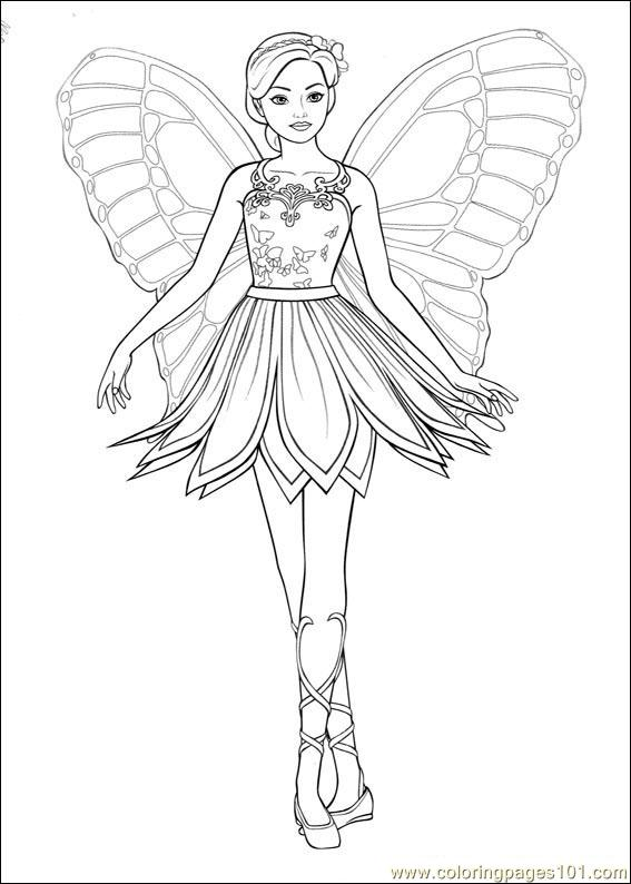 567x794 Barbie Ballerina Printable Coloring Pages
