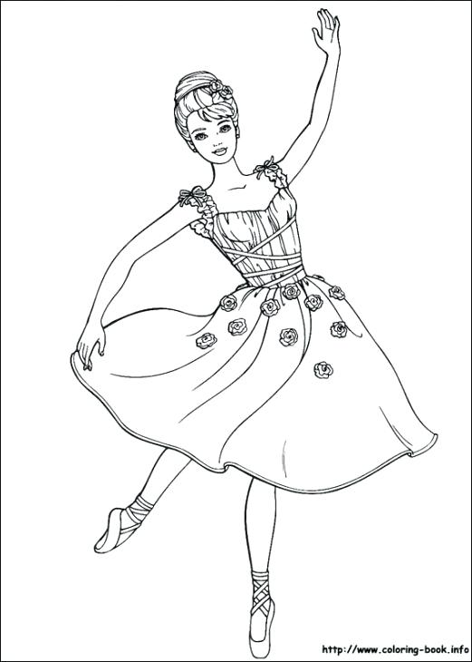 521x730 Barbie Becoming Beautiful Ballerina Coloring Page Coloring Pages