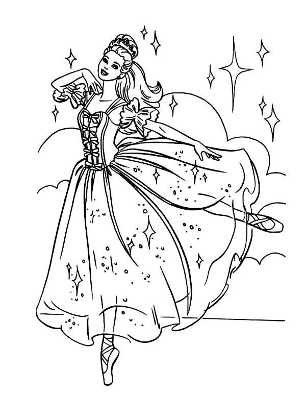 600x776 Barbie Coloring Pages Printable Beautiful Barbie Ballerina