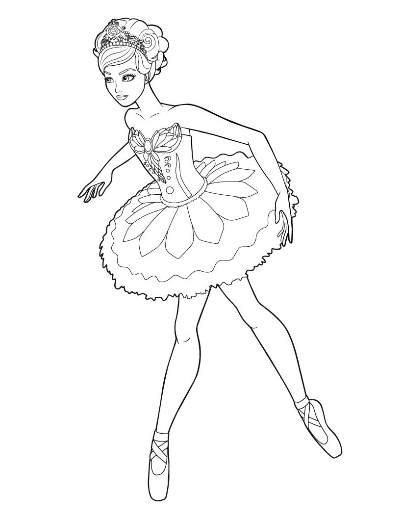 820x1060 Extraordinary Ballerina Coloring Pages For Kids Printable Have
