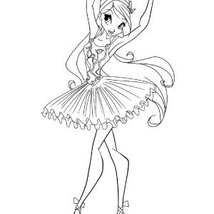barbie ballerina coloring pages | The best free Fresh coloring page images. Download from ...