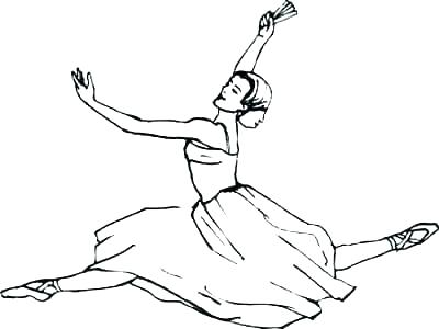400x300 Coloring Pages Barbie Ballerina