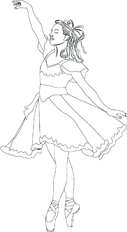 416x756 Ballet Dancer Coloring Pages Free Kids Coloring Barbie Ballerina