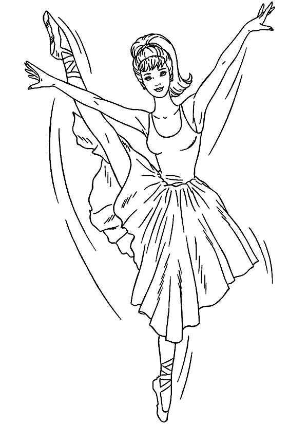 600x825 Barbie Ballerina Coloring Page Color Luna