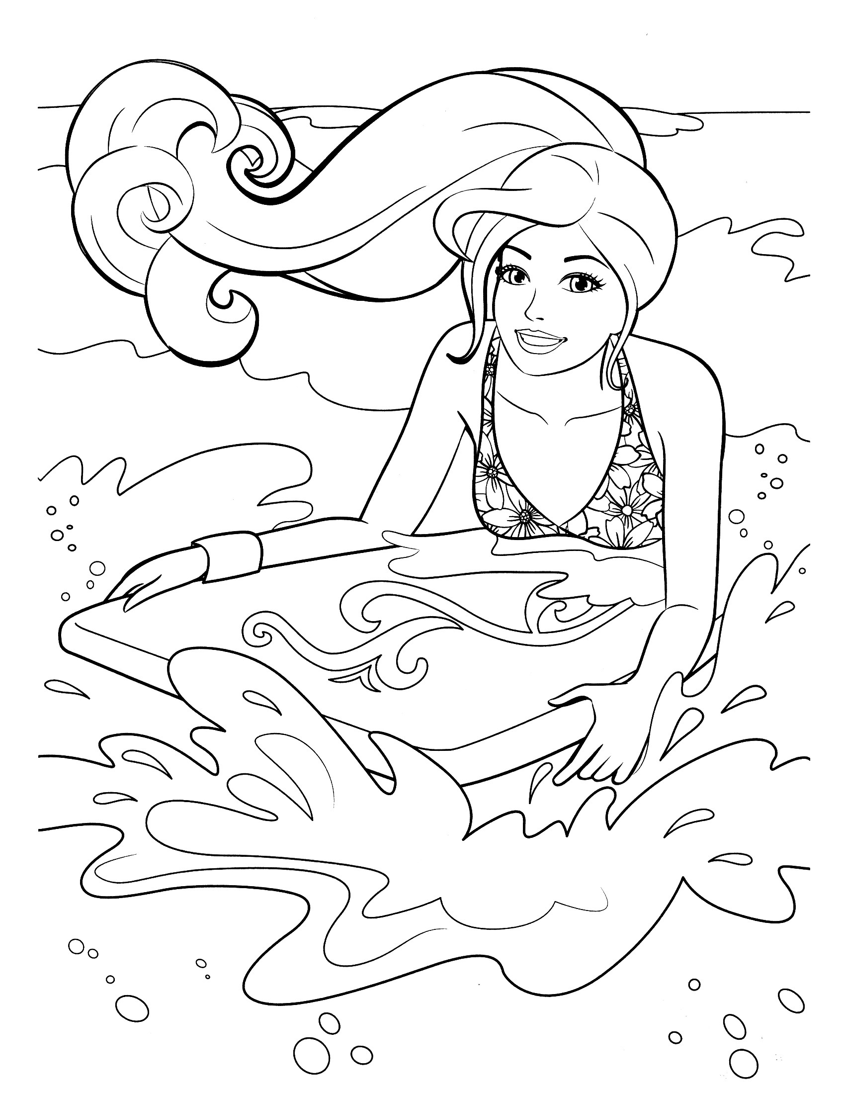 1700x2200 Barbie Coloring Pages Fresh Surf On Beach Coloring Pages Free