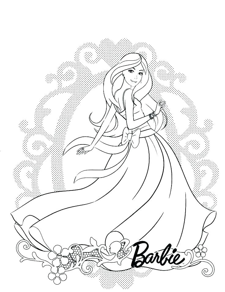 Barbie Car Coloring Pages