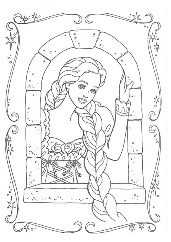 Barbie Christmas Coloring Pages